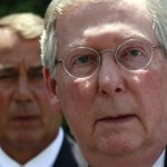 Republican leaders Senator Mitch McConnell and John Boehner