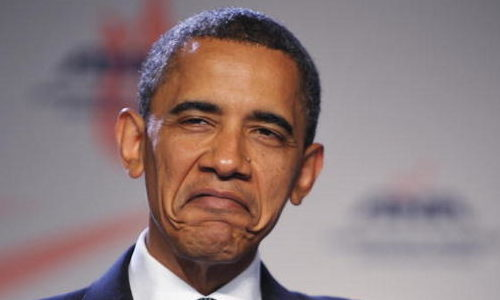 Barack Obama frown