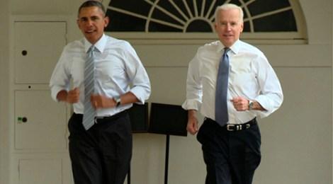 Obama Biden jogging
