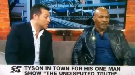 See what happens when a reporter calls Mike Tyson a convicted rapist on live TV