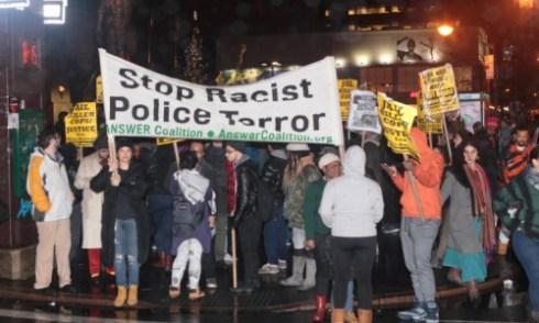 anti-cop protest
