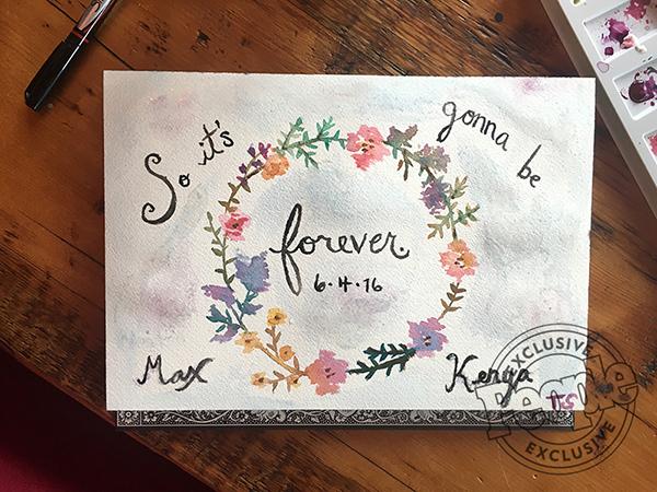 Taylor Swift Wedding Card