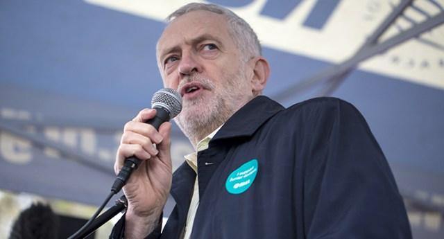 U.K. Labour leader Jeremy Corbyn, via Shutterstock.