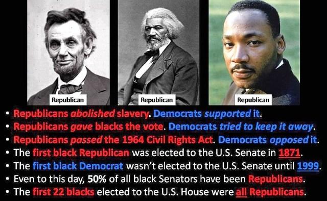 martin luther king republican vs democrats slavery