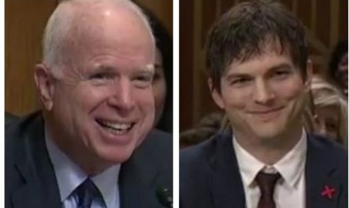 McCain and Kutcher2