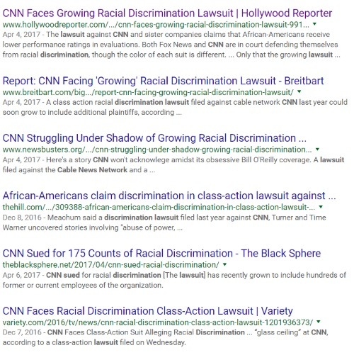 cnn race discrimination lawsuits by 175 black employees