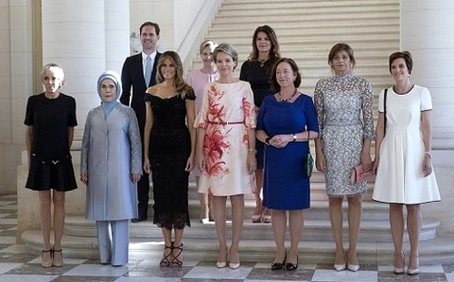 AP melania trump nato first ladies