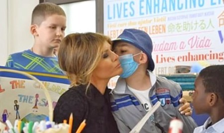 melania trump visits vatican hospital boy gets heart transplant miracle
