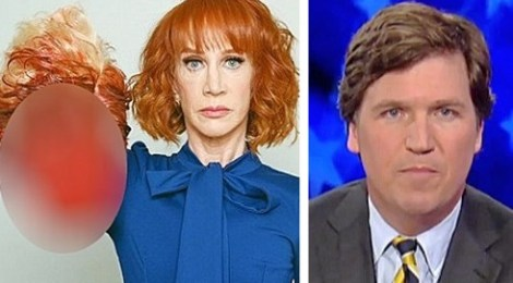 screenshot kathy griffin tucker carlson isis beheading trump victim