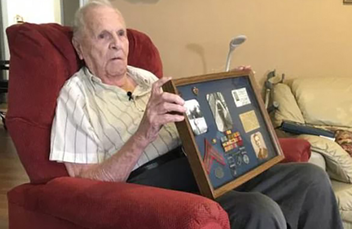 92-year-old veteran attacked trying to protect flags