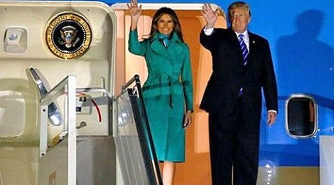 melania trump fashion dress president donald trump arrive in poland airport