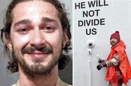 shia-labeouf-mugshot arrested he will not divide us
