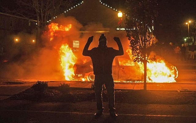 ferguson riots looting fire