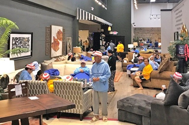 Truly remarkable human being big hearted mattress mack opens his furniture store as a shelter Bless home furniture outlet