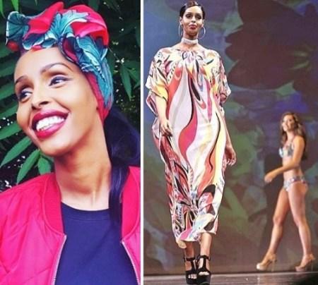 muslim miss universe great britain Muna Jama refused bikini for swimsuit competition