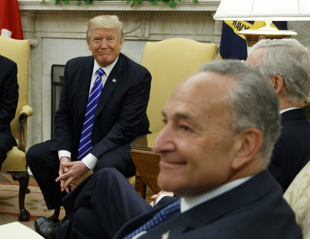 President Trump invites Chuck Schumer to seek budget deal