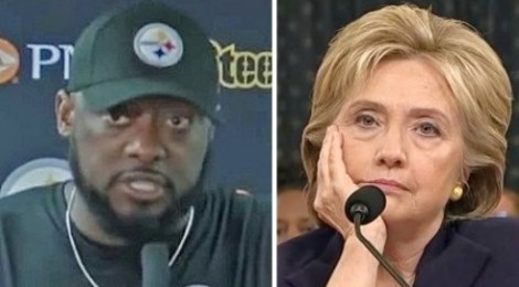 pittsburgh-steelers-coach-mike-tomlin hillary clinton
