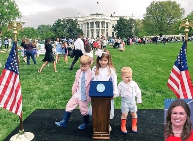 sarah sanders children sarah huckabee sanders white house press