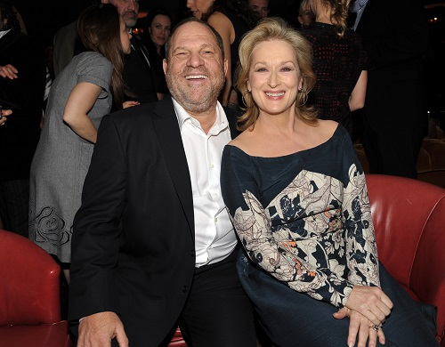 'She Knew': Posters appear saying Meryl Streep knew about Harvey Weinstein's actions