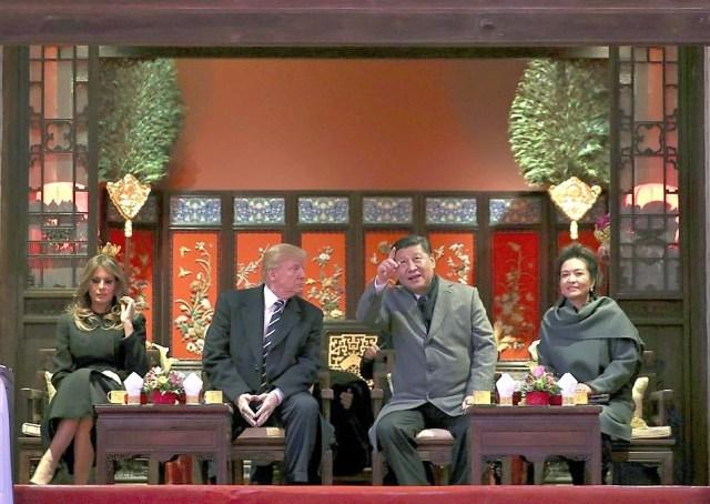 Trump China Forbidden City.