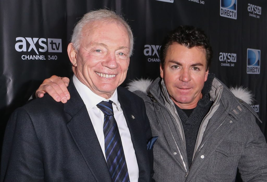 Schnatter with Dallas Cowboys owner Jerry Jones