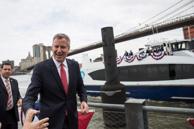 Getty New York Mayor Bill De Blasio Rides New Citywide NYC Ferry