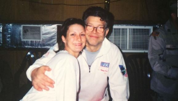 Army veteran says Al Franken groped her