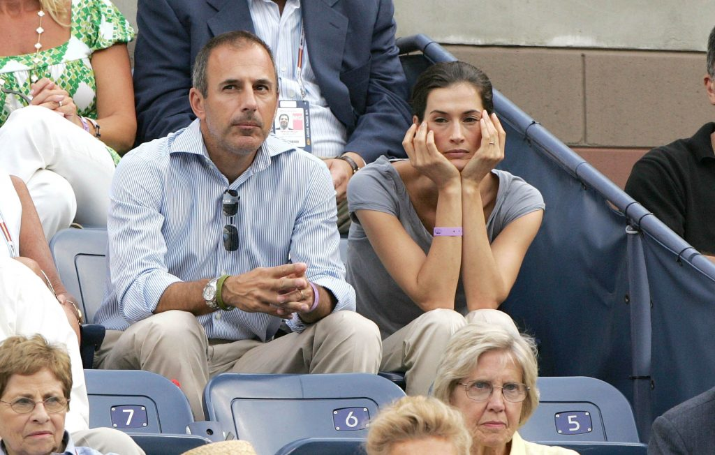 Matt Lauer and his wife Annette Roque at the U.S. Open