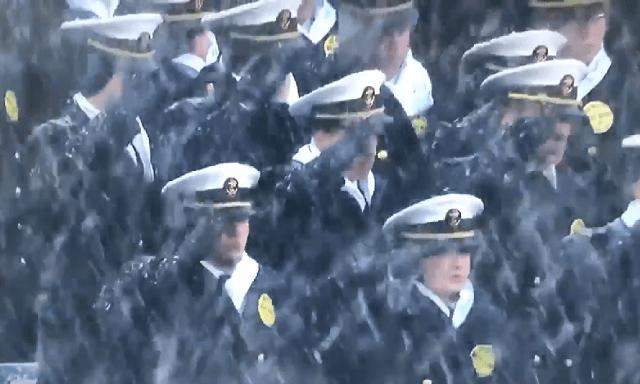 Inspiring Army-Navy Prayer, Anthem Upstages Barnburner of a Snowy Rivalry Game