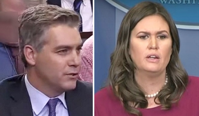 'I'm Not Finished!': Sanders Battles CNN's Acosta on False Media Reports
