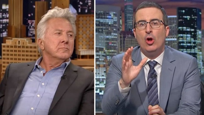 John Oliver publicly grills Dustin Hoffman over sexual harassment allegations