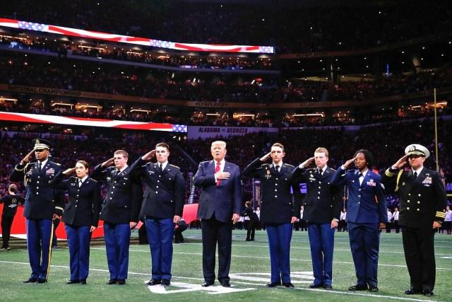 trump national anthem super bowl star spangled banner football
