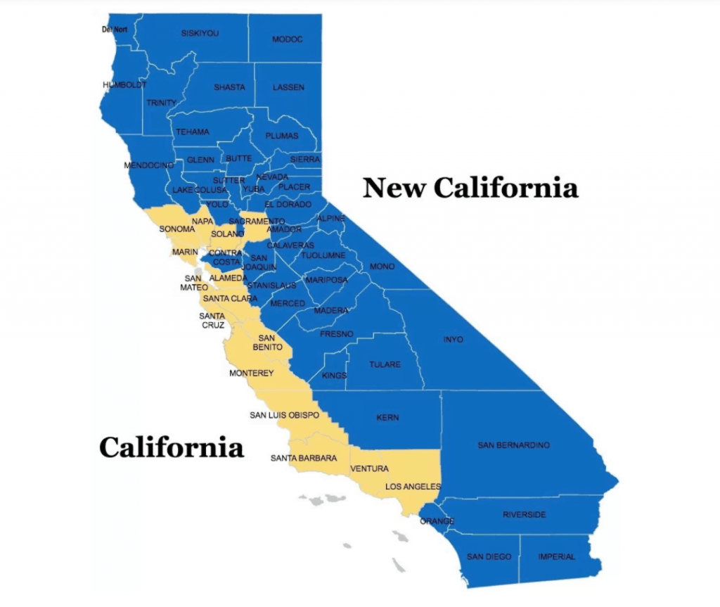 Campaign group attempts to create new USA state called New California