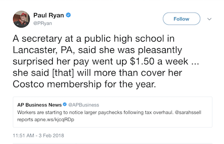 Lancaster woman bemused by mention in viral Paul Ryan tweet