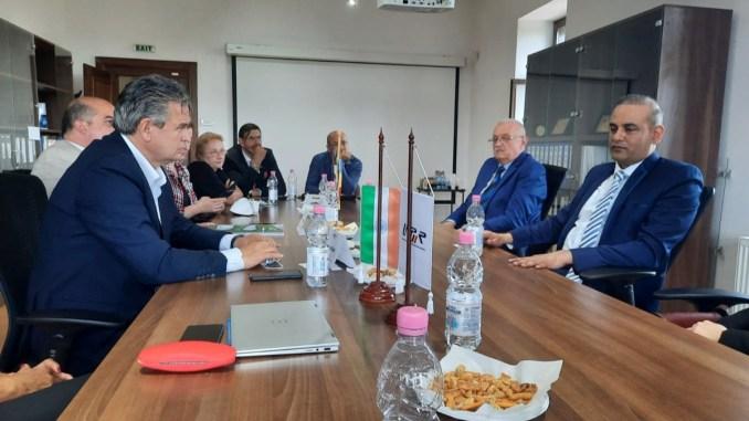 Conducerea UNPR, la discuții cu ambasadrul Indiei la București, Rahul Shrivastava. FOTO UNPR