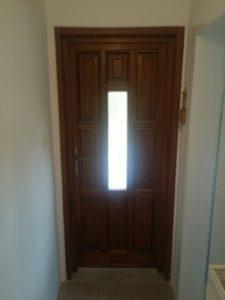 Csepel-Királymajor fa bejárati ajtócsere