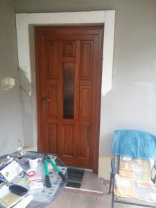 Istvántelek fa bejárati ajtócsere