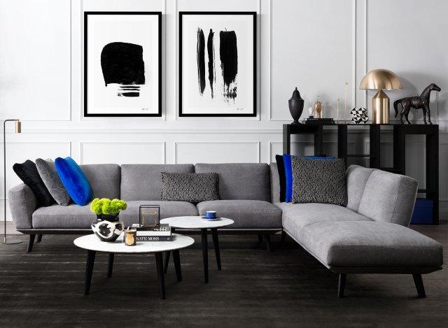 Living room vibrant colors