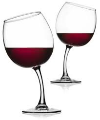 A Tipsy Wine Glass