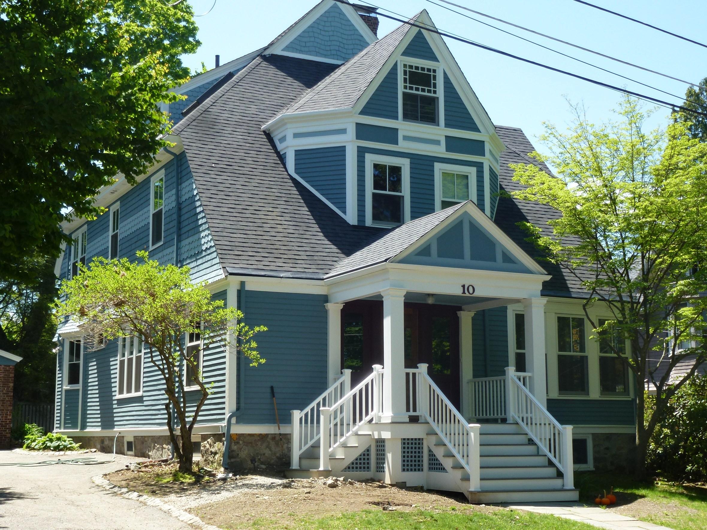 Color design - Victorian exterior - blue