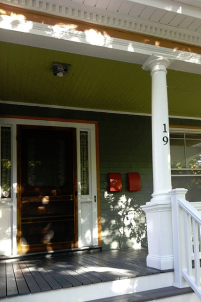 Victorian - Dramatic Accent Front Porch