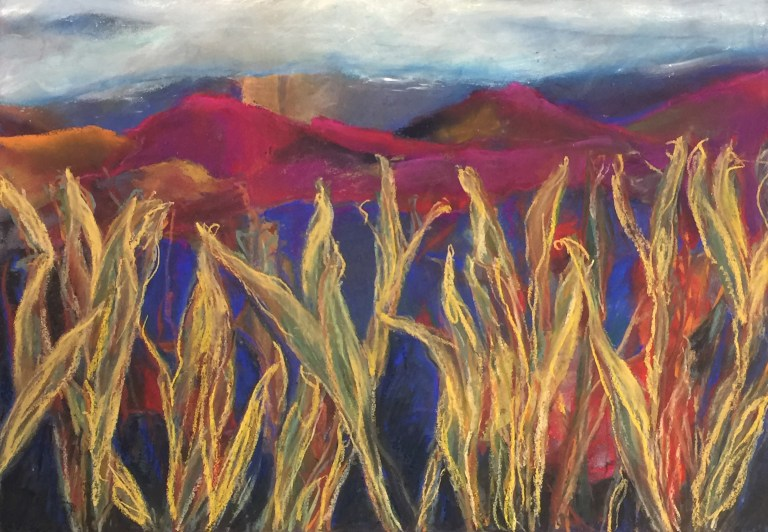 Mountain View - Pastel Painting