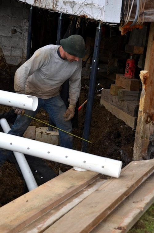 What will happen next during major house renovations?