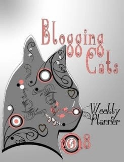 2018 Cat Blogging Weekly Planner