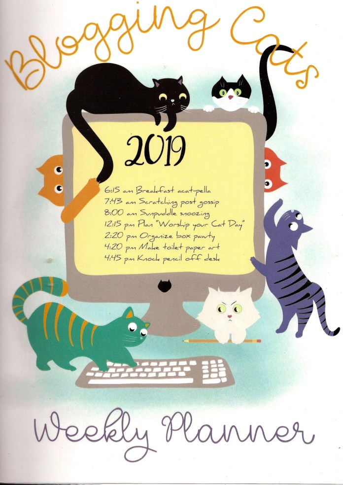 Paula Gregg's 2019 Blogging Calendar and Planner is a must for any cat lover