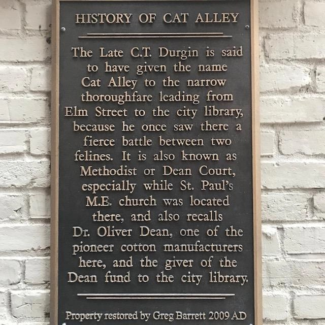 Visit Manchester's Cat Alley to see the cat art