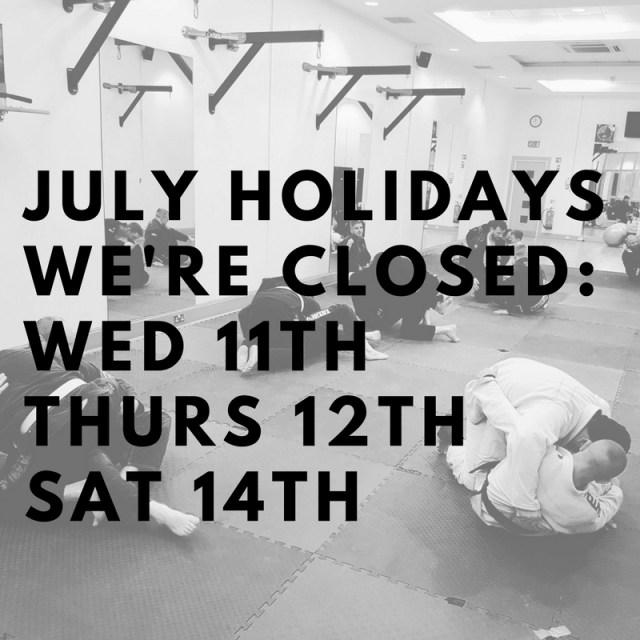July Holidays 2018