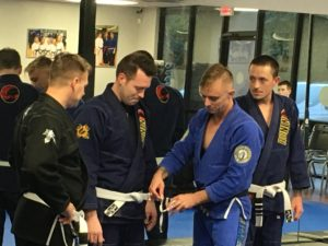 White Belt Getting A Stripe