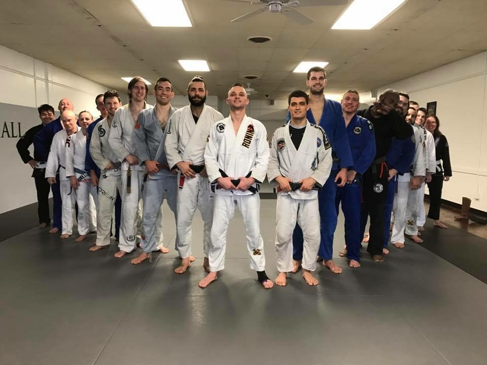 The Black Belts Have Arrived Group Photo