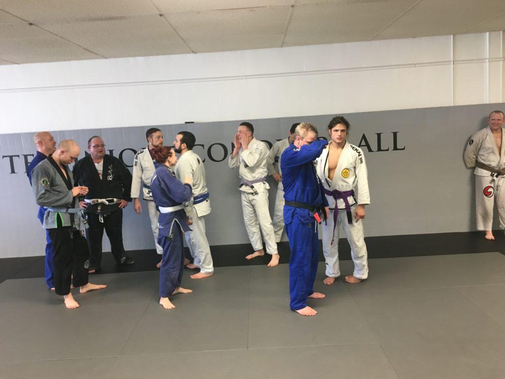 Jiu Jitsu People Walking Around Before Team Photo